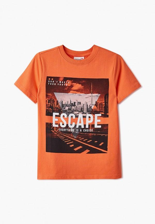 футболка с коротким рукавом coccodrillo для мальчика, оранжевая