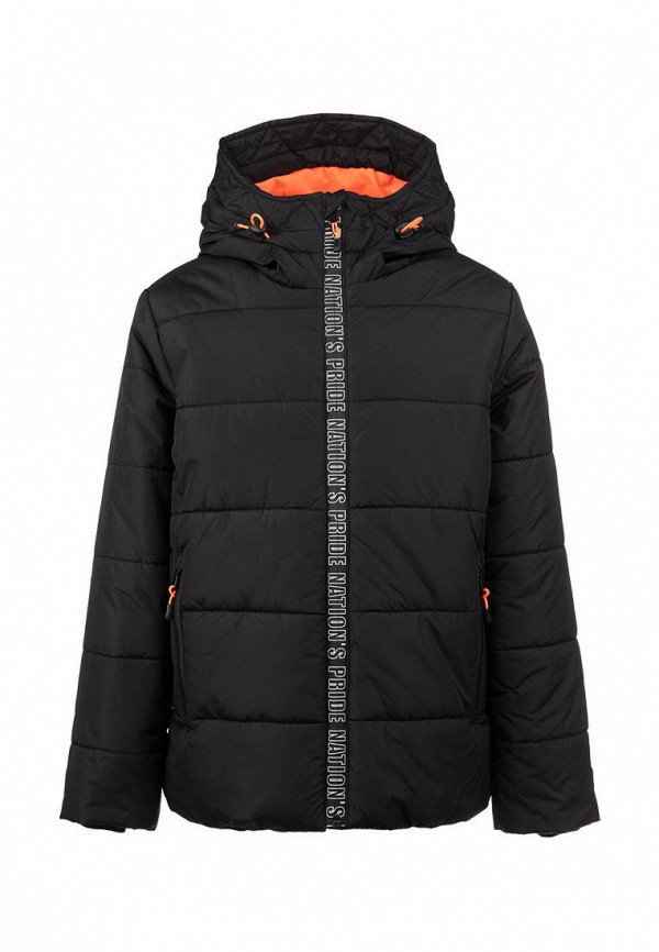 утепленные куртка playtoday для мальчика, черная