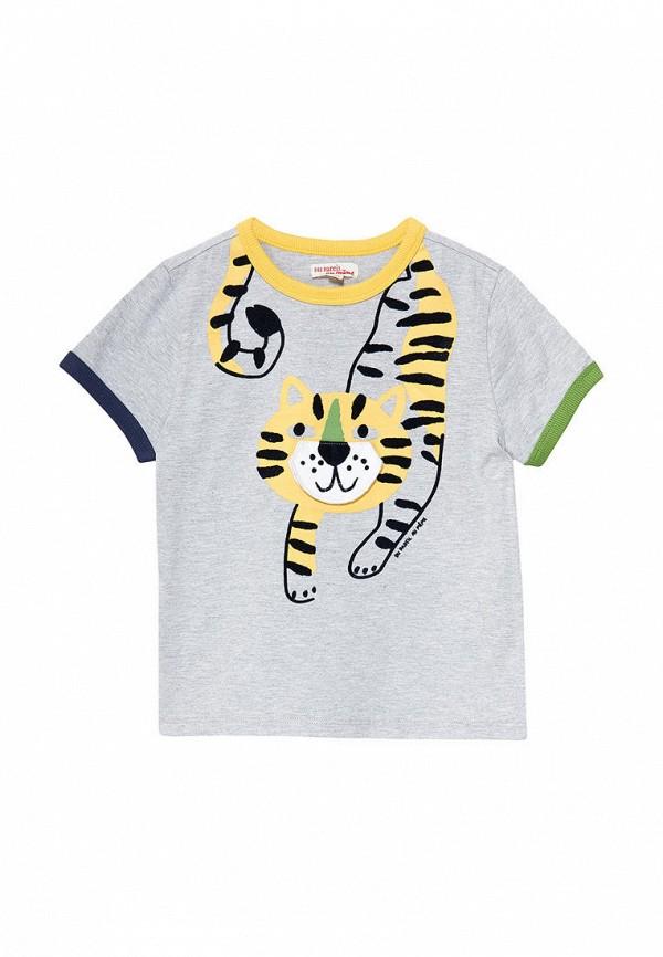 футболка с коротким рукавом du pareil au même для мальчика, серая