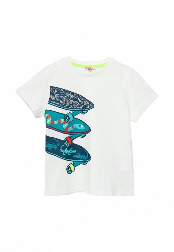 футболка с коротким рукавом du pareil au même для мальчика, белая