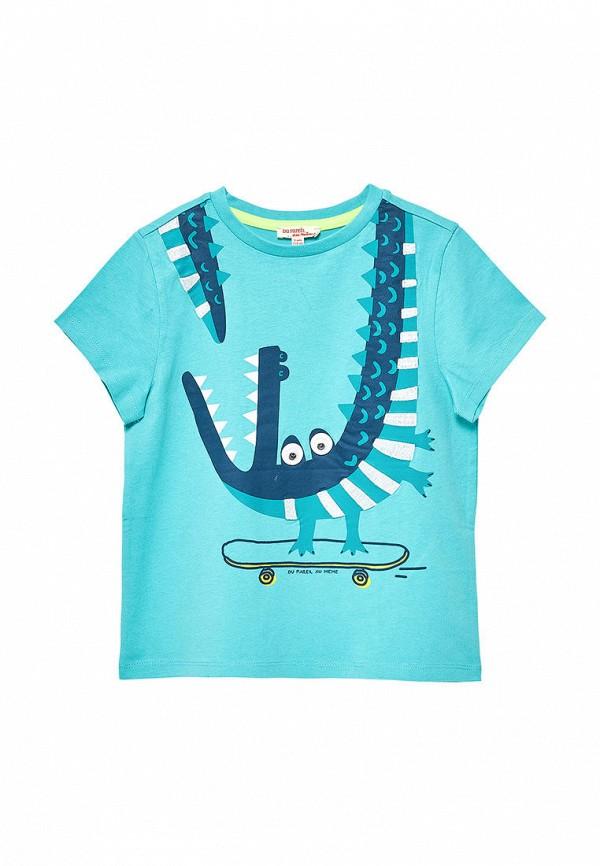 футболка с коротким рукавом du pareil au même для мальчика, бирюзовая
