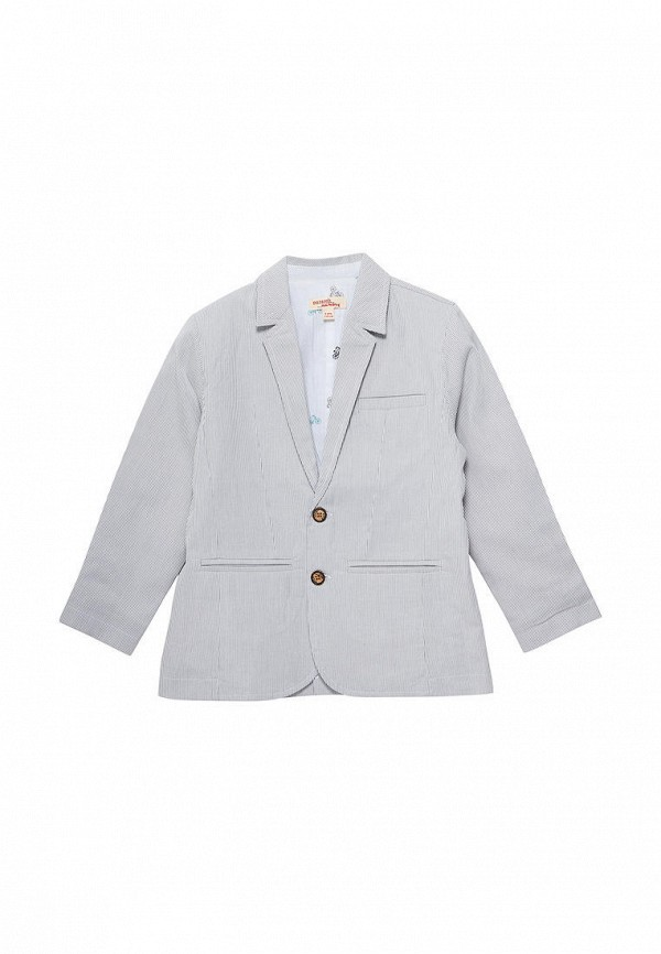 пиджак du pareil au même для мальчика, серый