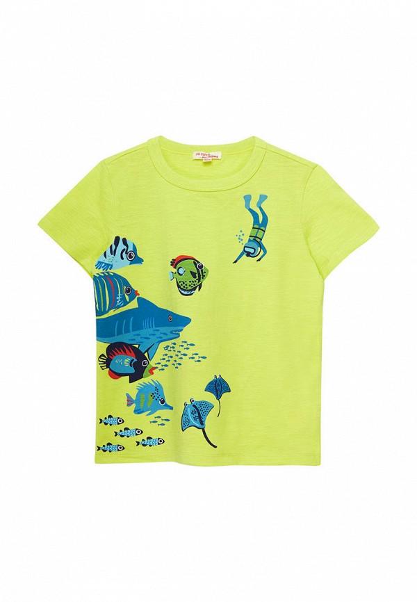 футболка с коротким рукавом du pareil au même для мальчика, зеленая