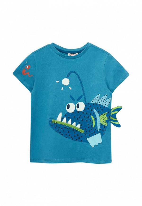 футболка с коротким рукавом du pareil au même для мальчика, голубая