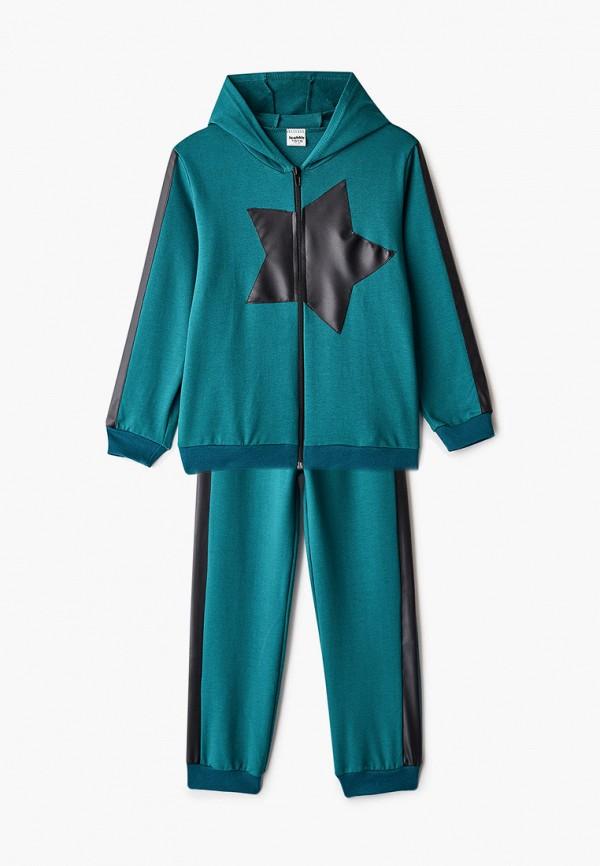 спортивный костюм looklie для мальчика, зеленый