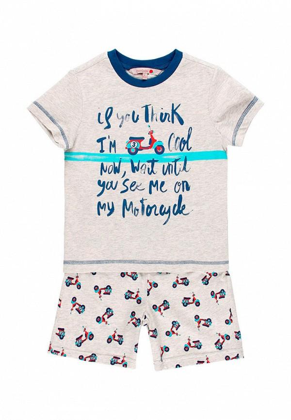 пижама boboli для мальчика, серая