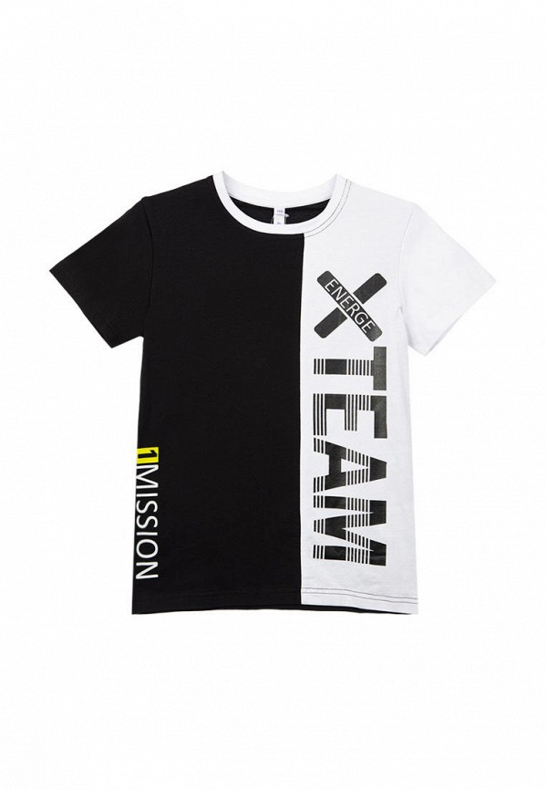 футболка с коротким рукавом playtoday для мальчика, черная