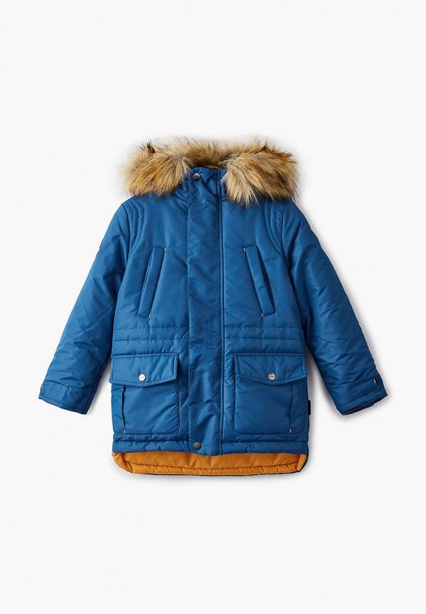 Куртка для мальчика утепленная АксАрт цвет синий