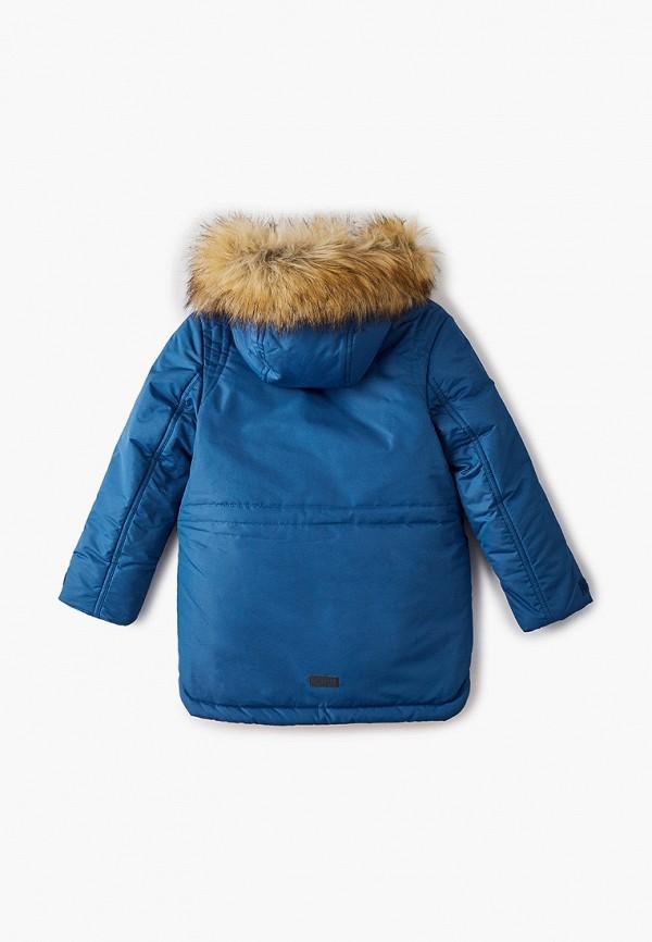 Куртка для мальчика утепленная АксАрт цвет синий  Фото 2