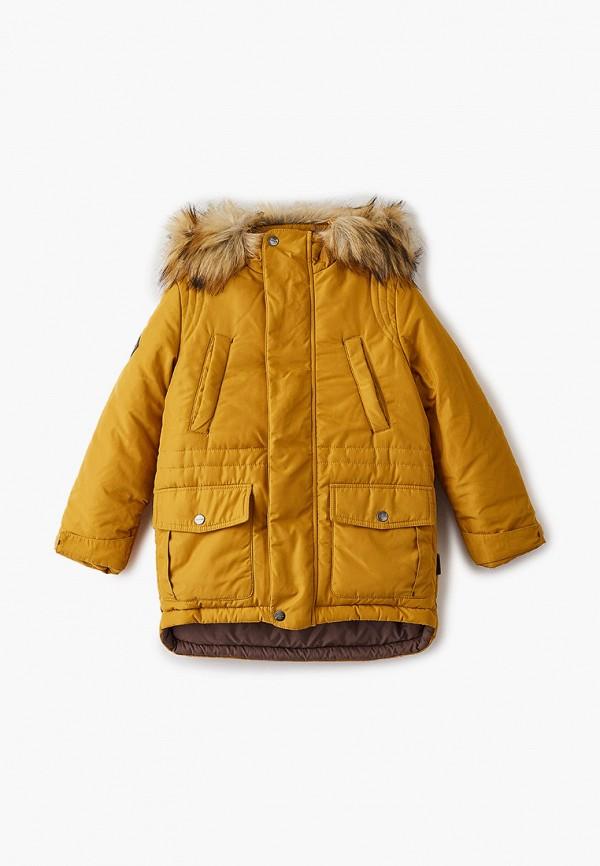 Куртка для мальчика утепленная АксАрт цвет желтый