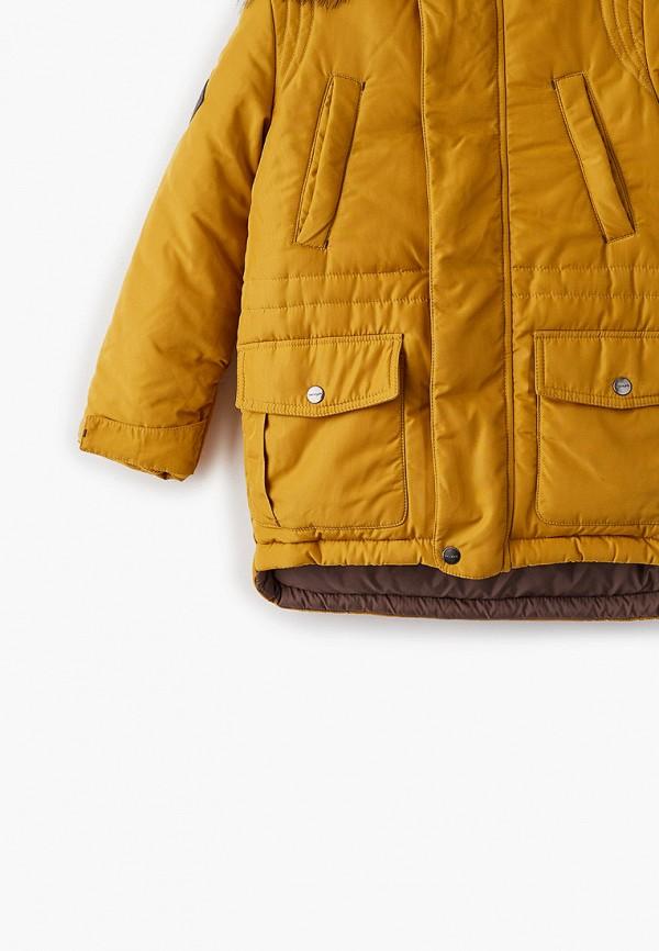Куртка для мальчика утепленная АксАрт цвет желтый  Фото 3