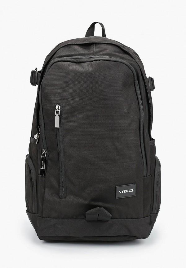 рюкзак vitacci для мальчика, черный