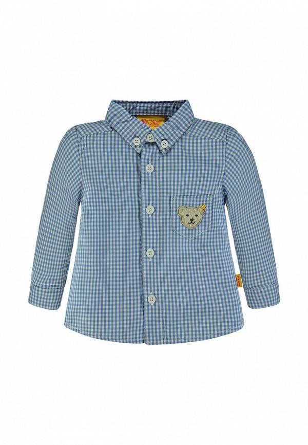 рубашка steiff для мальчика, синяя