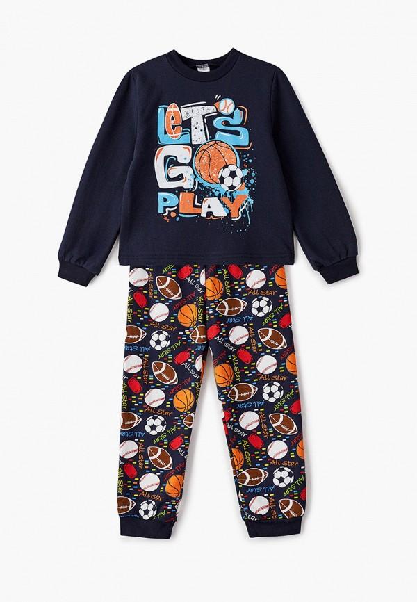 Пижама для мальчика Веселый малыш цвет синий