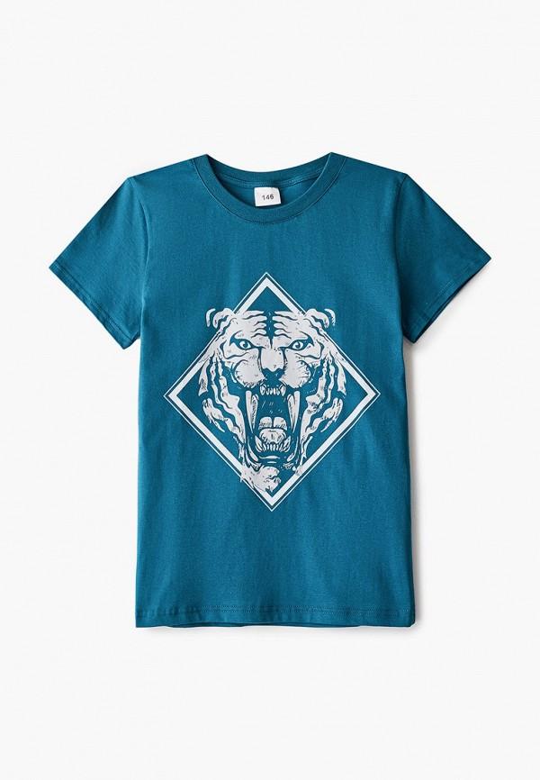 футболка с коротким рукавом repost для мальчика, синяя