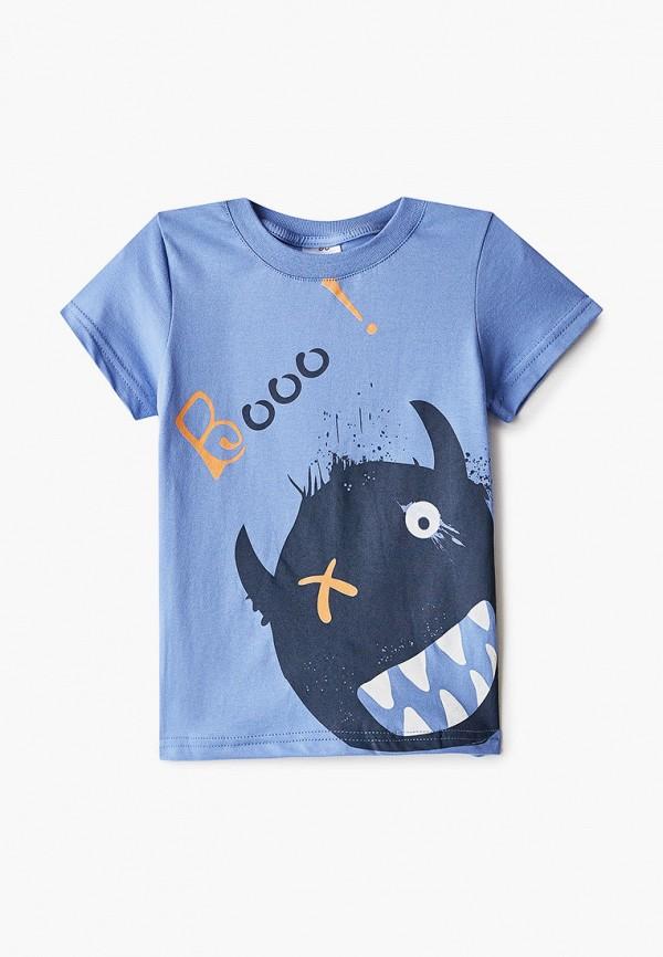 футболка с коротким рукавом repost для мальчика, голубая