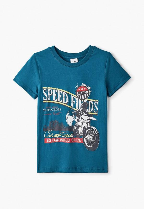 футболка с коротким рукавом repost для мальчика, бирюзовая