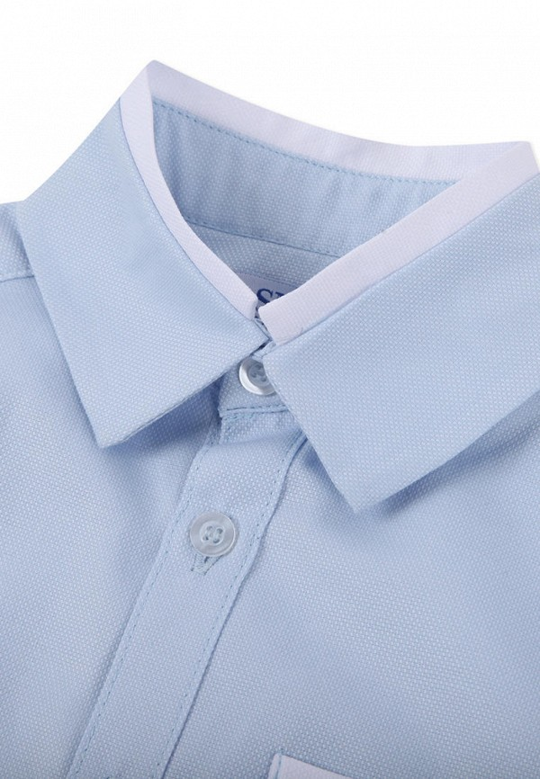Рубашка для мальчика Smena цвет голубой  Фото 3