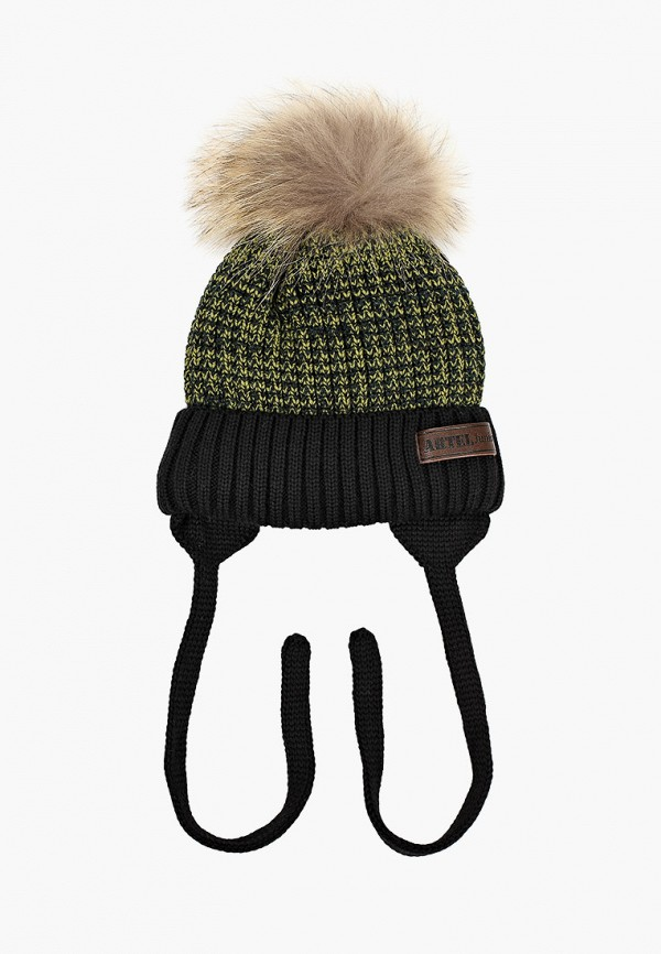 шапка artel для мальчика, зеленая