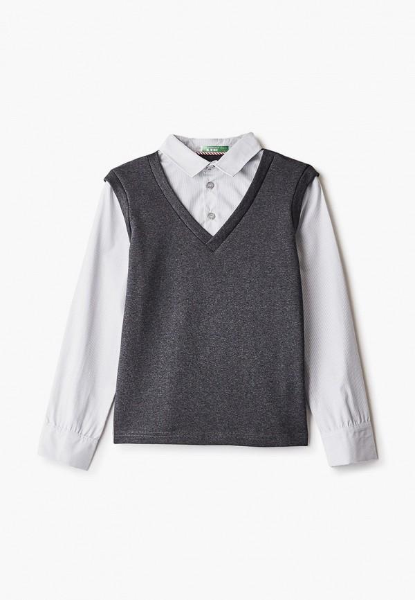 пуловер lik fashion для мальчика, серый