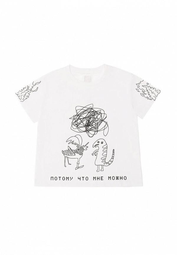 футболка с коротким рукавом dnk для мальчика, белая