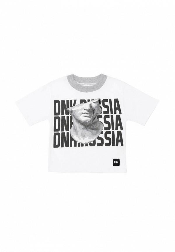 футболка с коротким рукавом dnk code для мальчика, белая