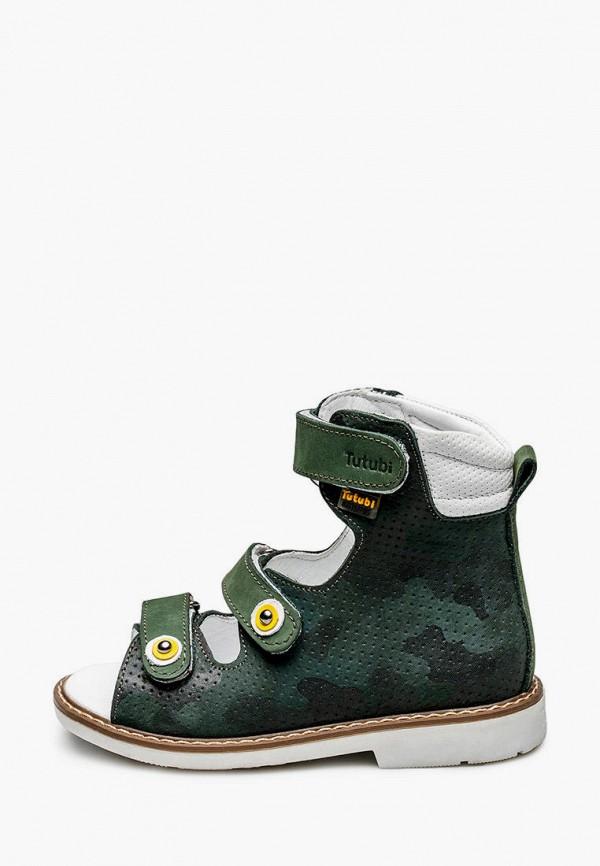 сандалии tutubi для мальчика, зеленые