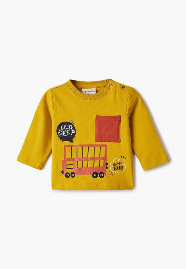 футболка coccodrillo для мальчика, желтая