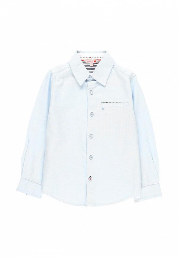 рубашка boboli для мальчика, голубая