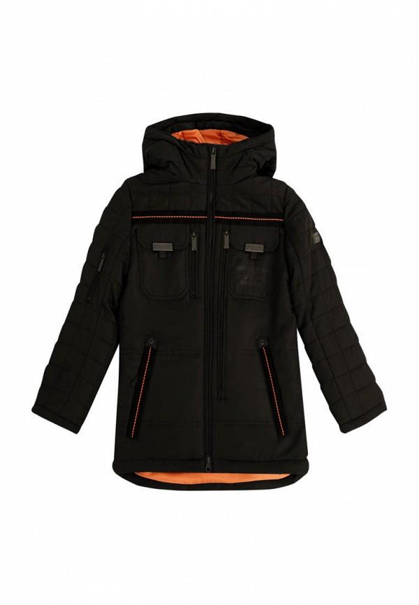 утепленные куртка finn flare для мальчика, черная