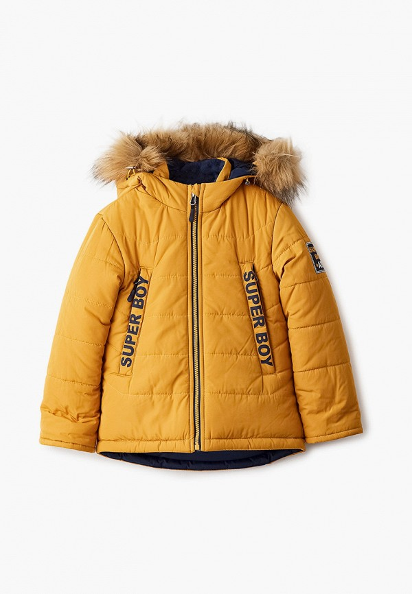утепленные куртка артус для мальчика, желтая