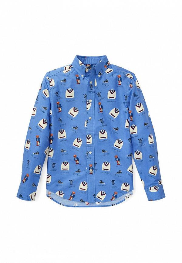рубашка polo ralph lauren для мальчика, голубая