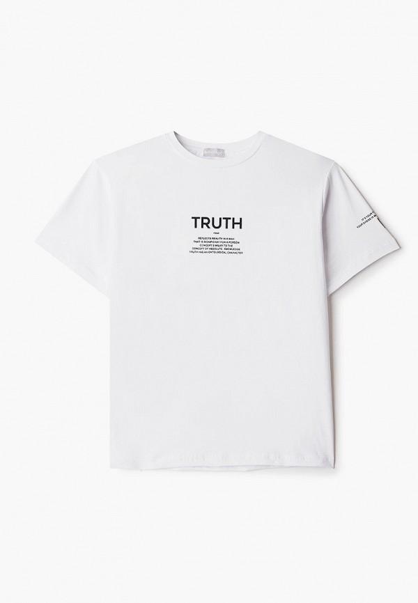 футболка с коротким рукавом sabotage для мальчика, белая