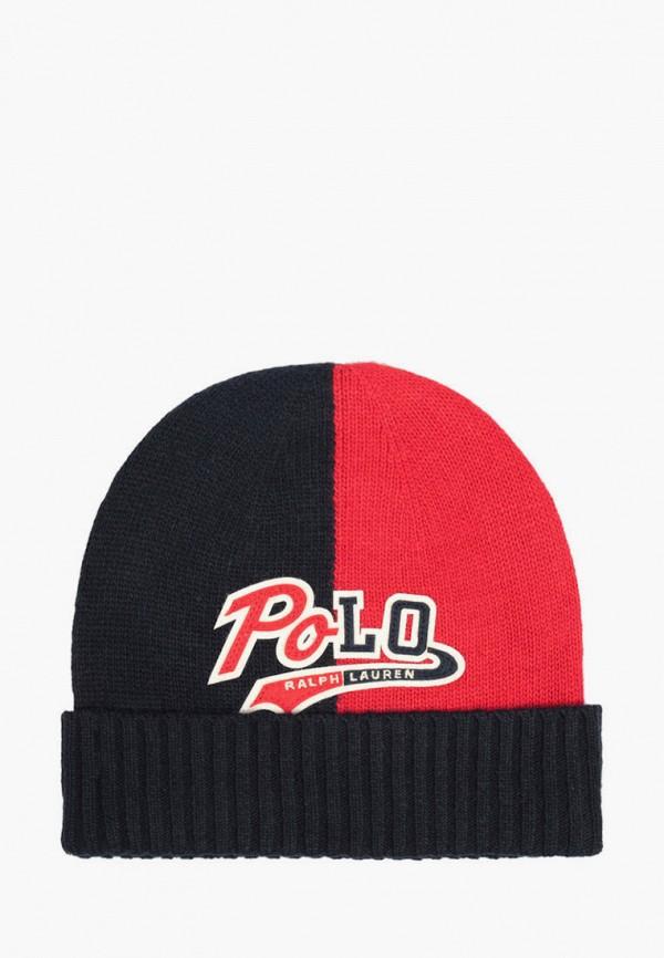 шапка polo ralph lauren для мальчика, синяя