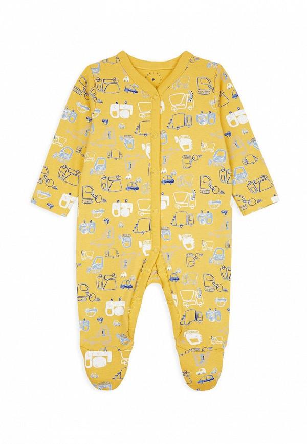 комбинезон с брюками mothercare для мальчика, желтый
