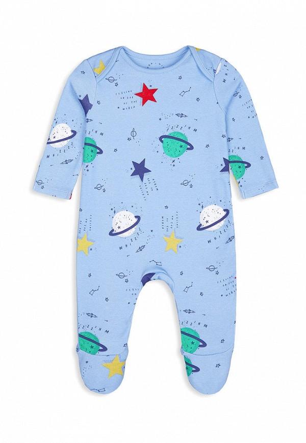 комбинезон с брюками mothercare для мальчика, голубой