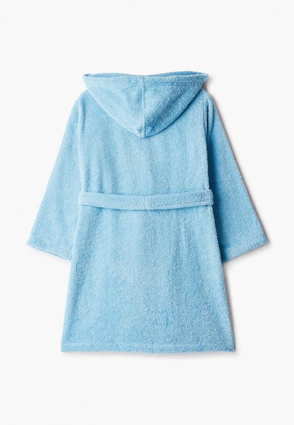 Халат детский домашний Cleanelly цвет голубой  Фото 2