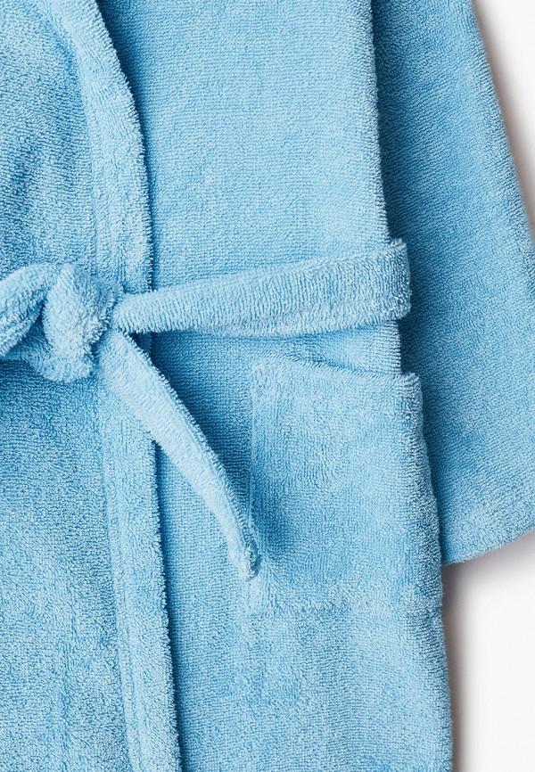 Халат детский домашний Cleanelly цвет голубой  Фото 3