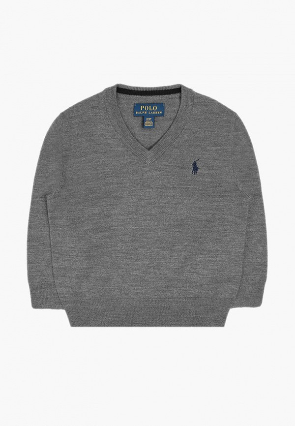 пуловер polo ralph lauren для мальчика, серый