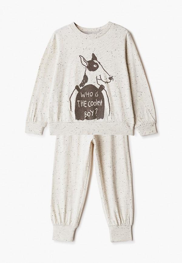 пижама sela для мальчика, бежевая