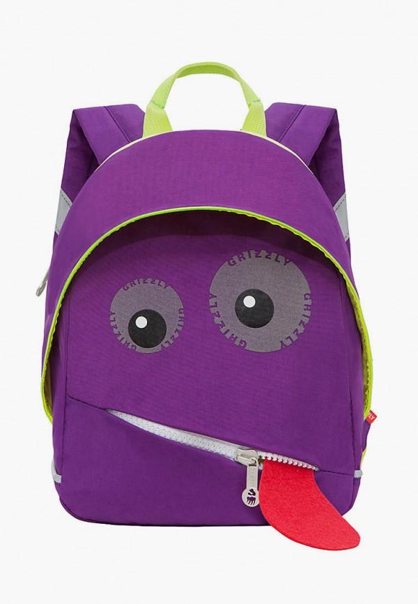рюкзак grizzly для мальчика, фиолетовый