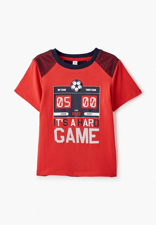 Футболка PlayToday, цвет красный, размер 98. Цена: 765 р. Коллекция: Весна-лето 2021, Пол: boys, Сезонность: мульти, Страна-изготовитель: Китай - фото 1