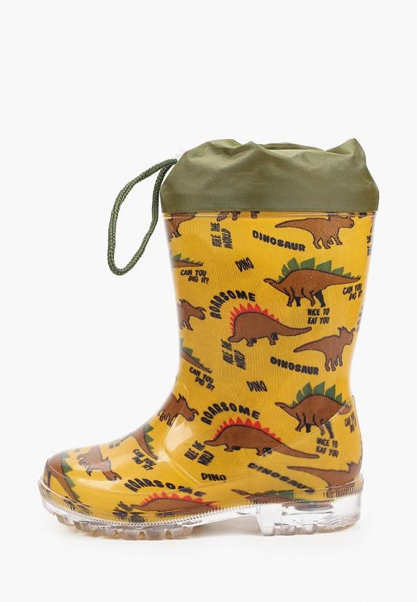 резиновые сапоги coccodrillo для мальчика, желтые