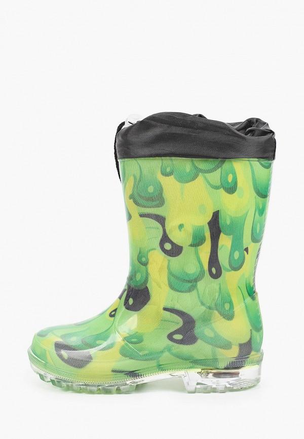 резиновые сапоги coccodrillo для мальчика, зеленые