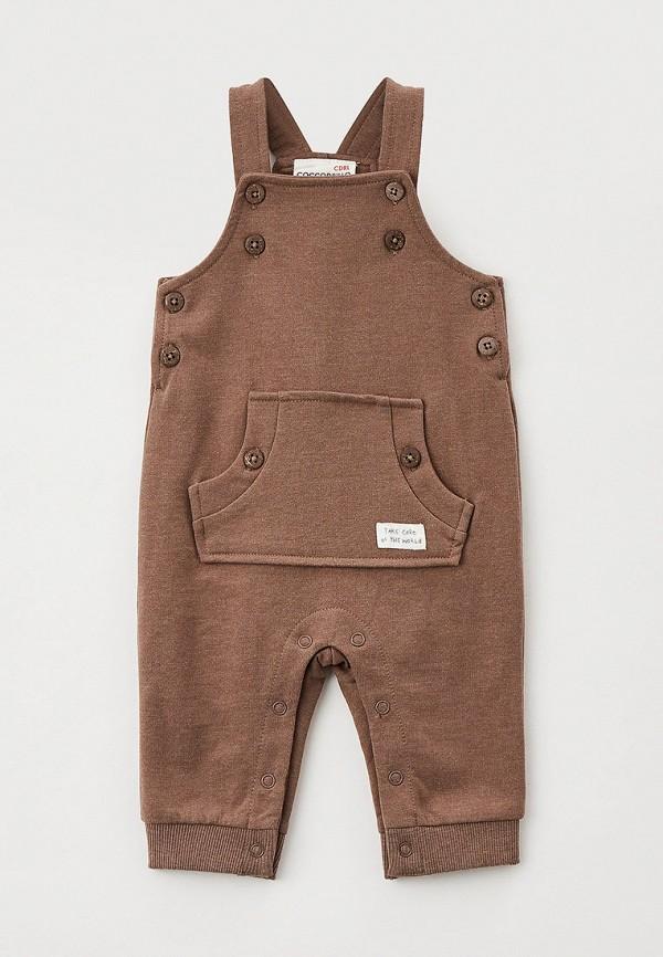 комбинезон с брюками coccodrillo для мальчика, коричневый