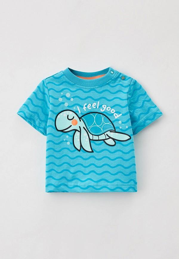 футболка с коротким рукавом coccodrillo для мальчика, голубая