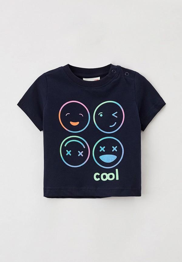 футболка с коротким рукавом coccodrillo для мальчика, синяя