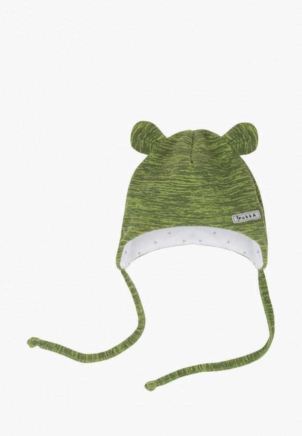 шапка zukka для мальчика, зеленая