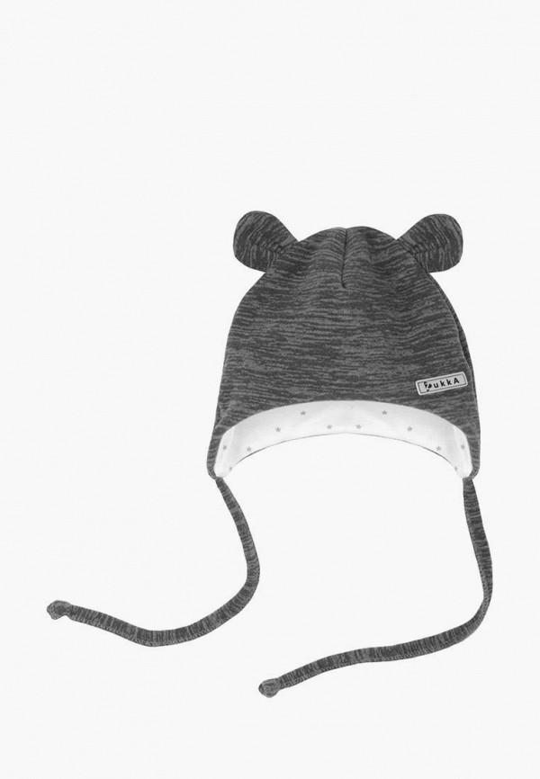 шапка zukka для мальчика, серая
