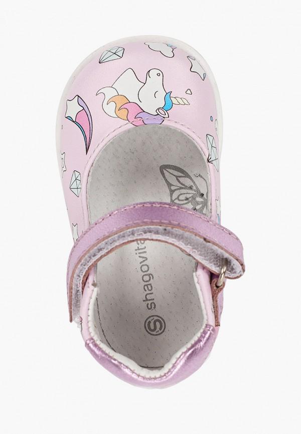 Туфли для девочки Shagovita цвет розовый  Фото 4